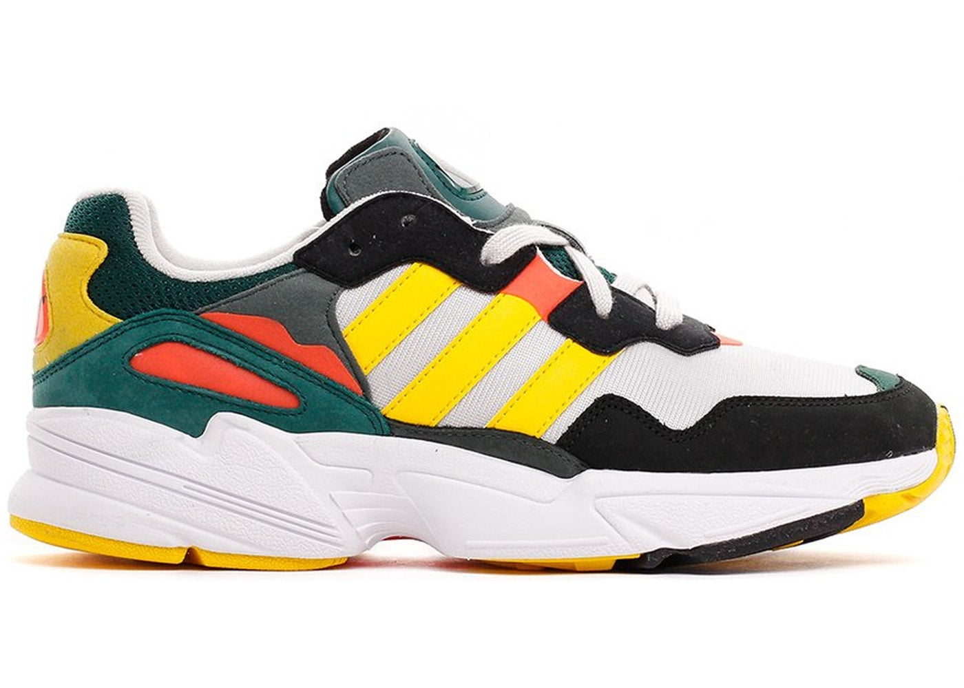 Details about Mens Adidas Yung 96 Green Bold Gold Grey One Solar Red DB2605