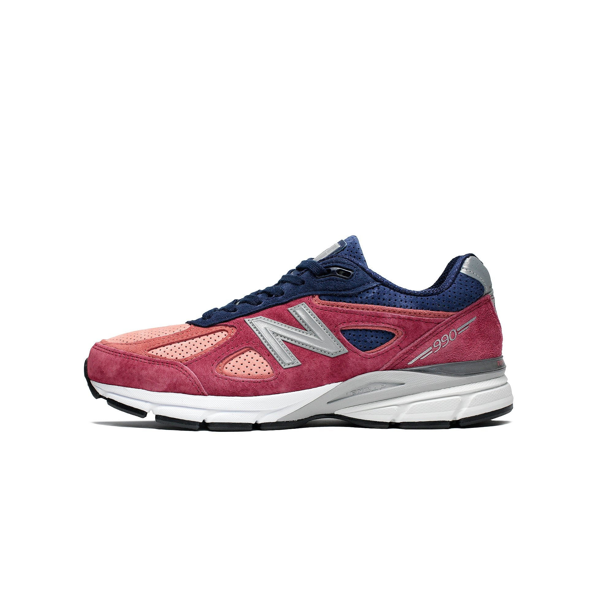 sports shoes 185b5 3ee6a Details about Mens New Balance 990 V4 Made In USA Red Navy Grey White Black  M990CP4