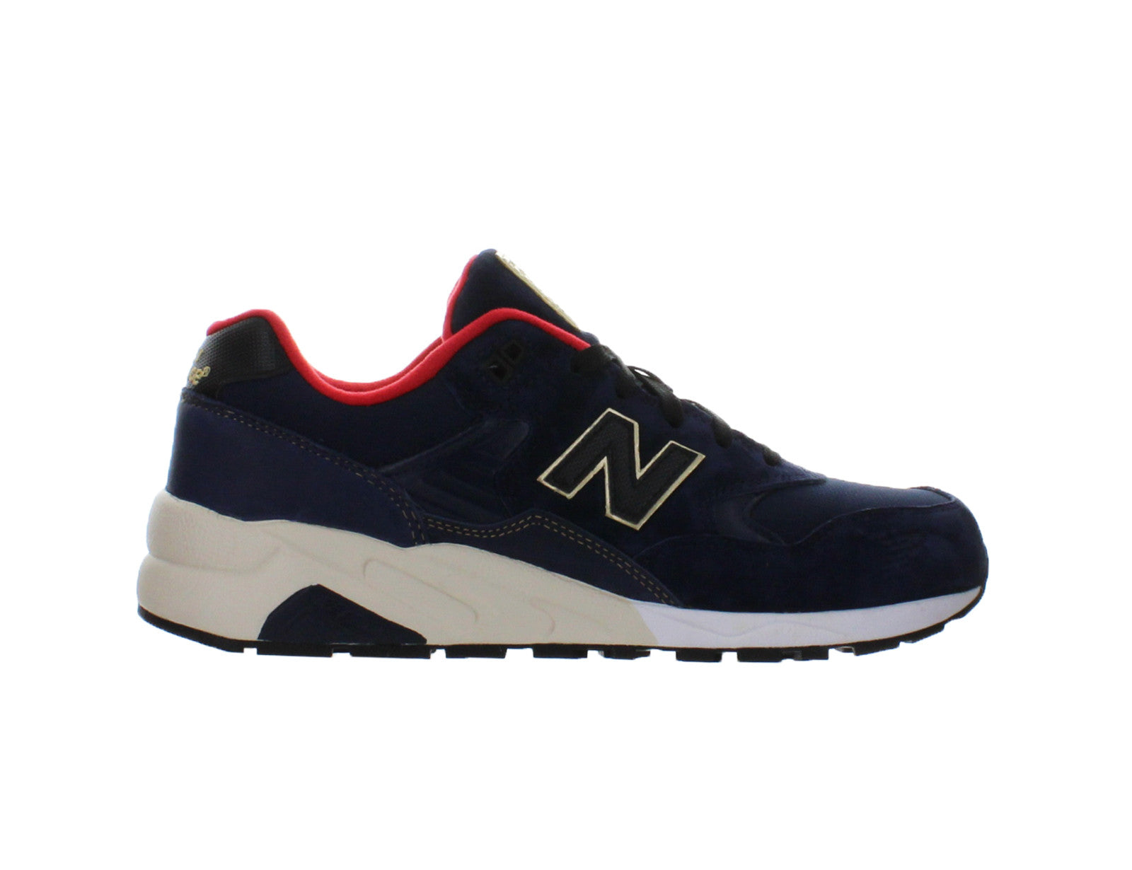 cheap for discount 06858 da3a2 Details about Mens New Balance 580 Elite Limited Edition Navy Black Gold  Red White MRT580AA