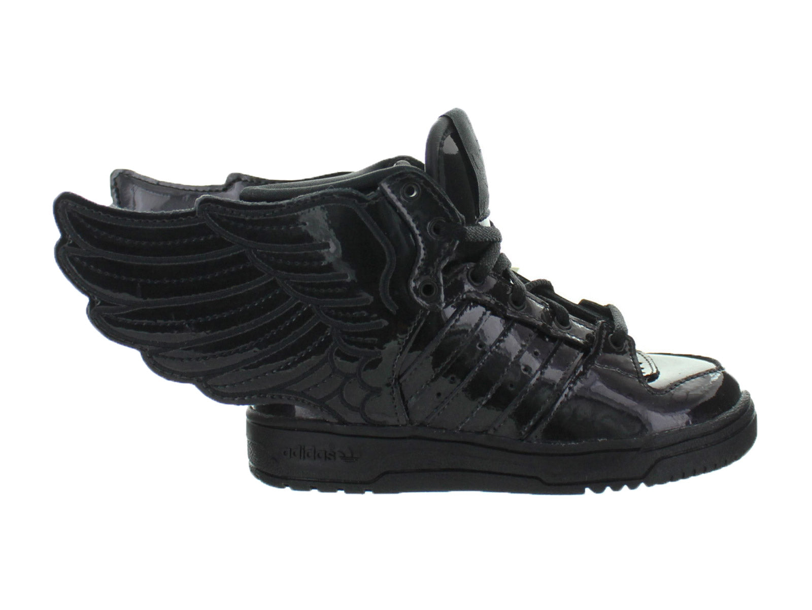 huge selection of e8f24 a4c38 Details about Kids Adidas JS Jeremy Scott Wings 2.0 TD Black Running White  Q23669