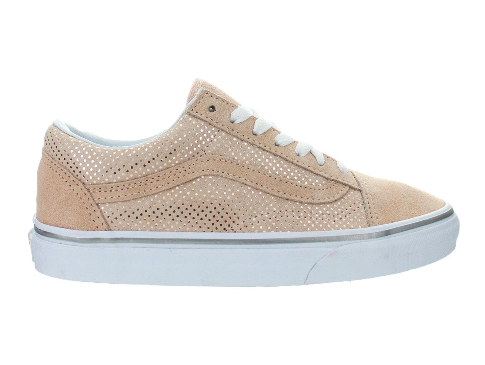 zapatilla vans wmns ua old skool metallic dots rose