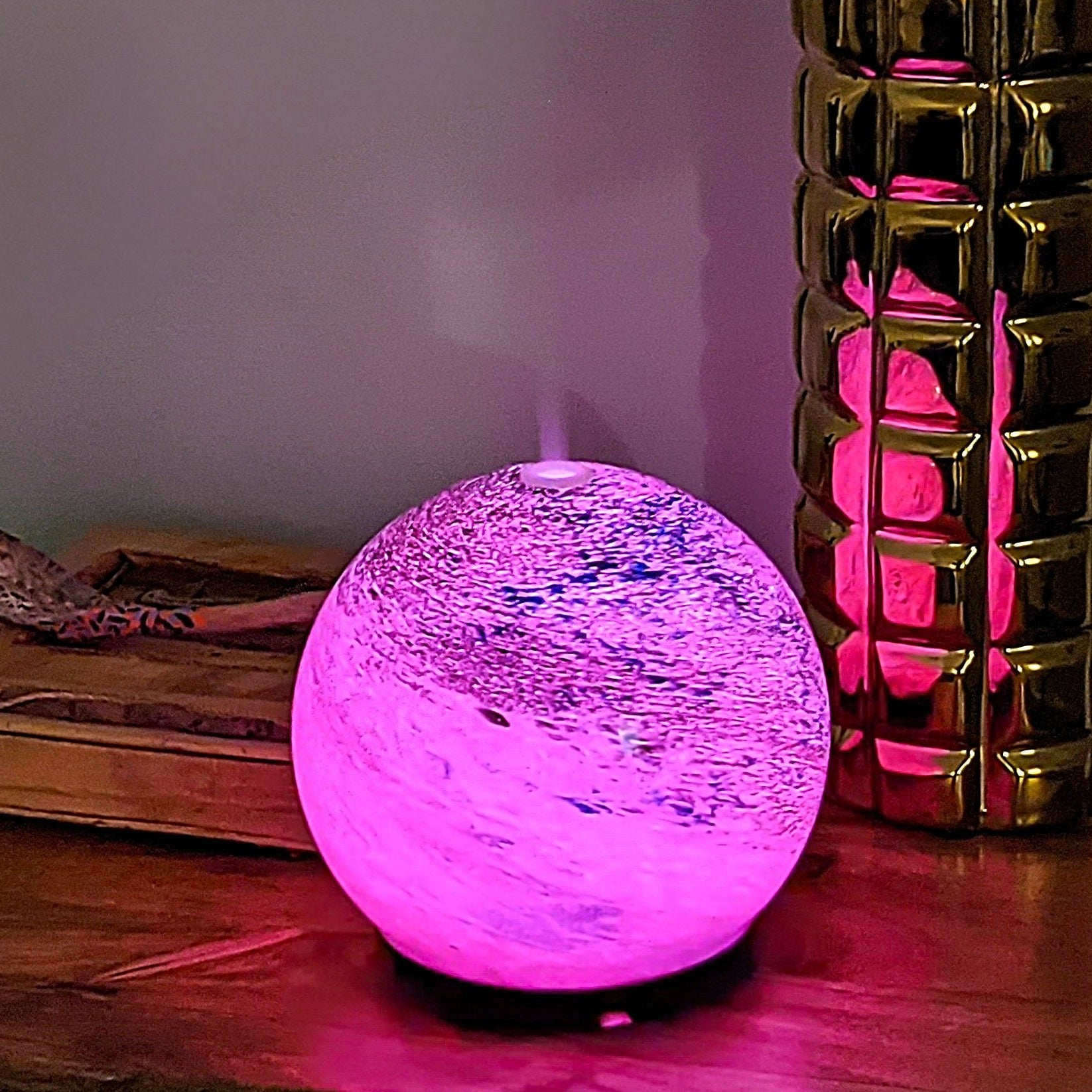 Glass Round Ultrasonic Essential Oil Diffuser Air Humidifier 200ml