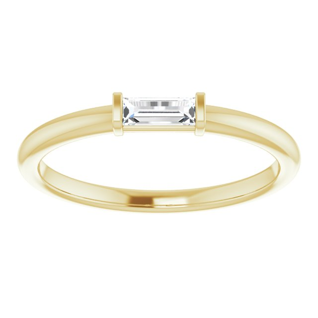 Straight Baguette Diamond Stacking Ring