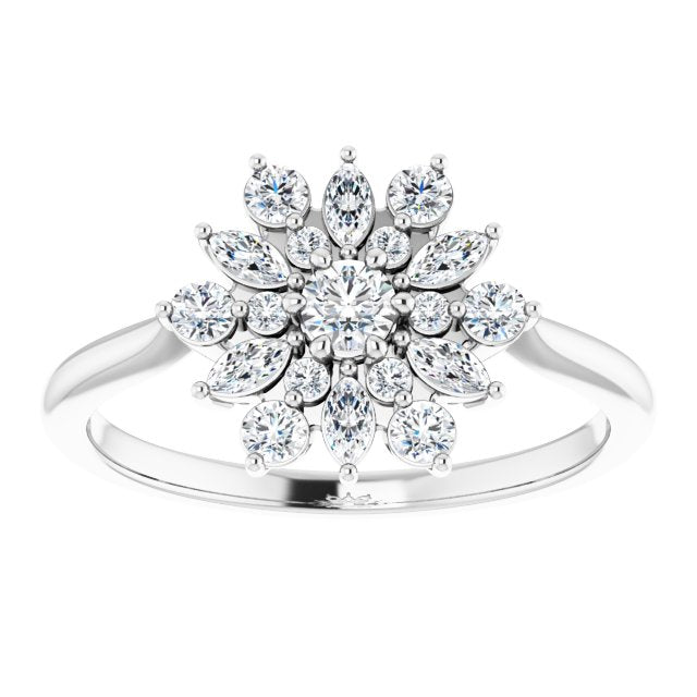 Snowflake-diamond-ring