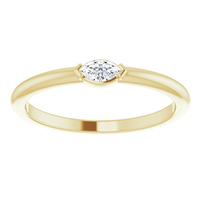 Yellow stackable diamond ring
