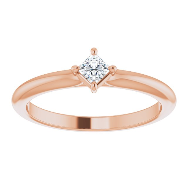 princess cut diamond stackable ring