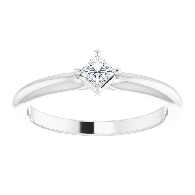 square diamond stackable ring