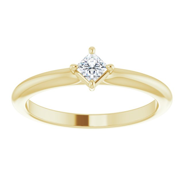 princess diamond stacking ring yellow