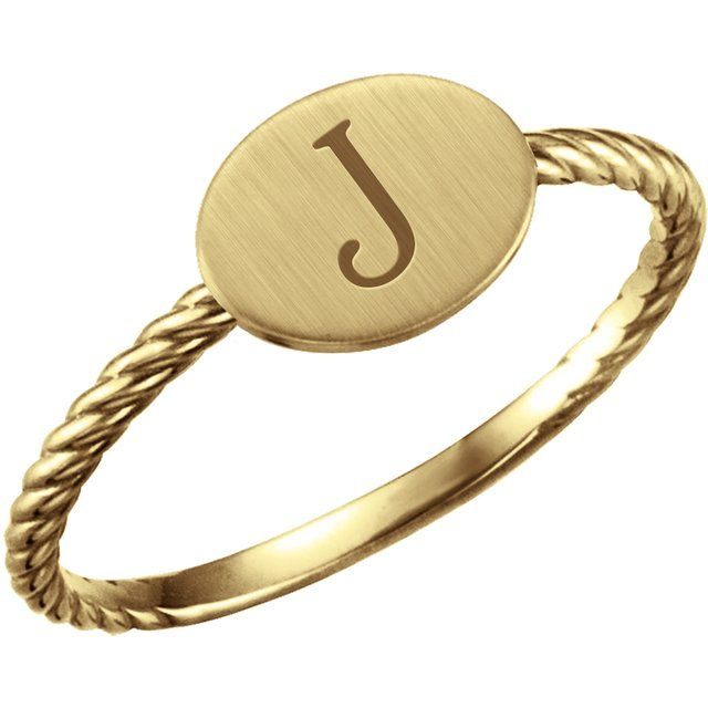 Engravable yellow gold ring