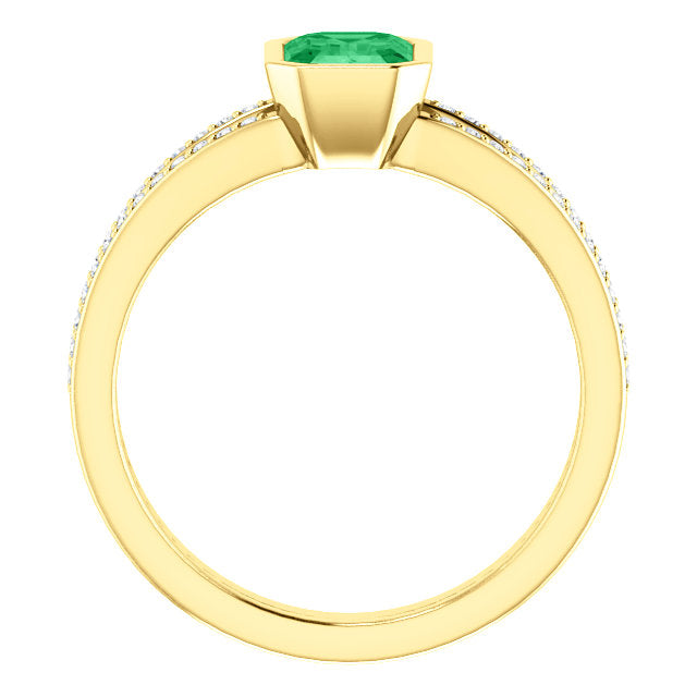 genuine-emerald-diamond-ring