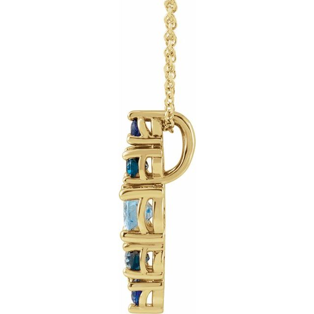 Blue Stone Yellow Necklace