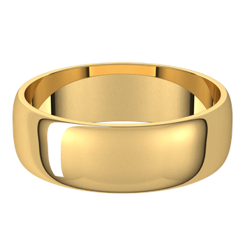 Yellow gold classic wedding band