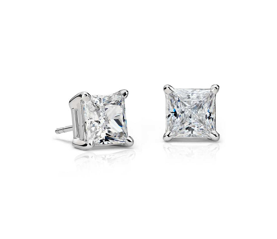 princess-diamond-stud-earrings