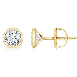 bezel-diamond-stud-earrings