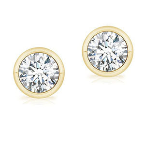 bezel-stud-earrings
