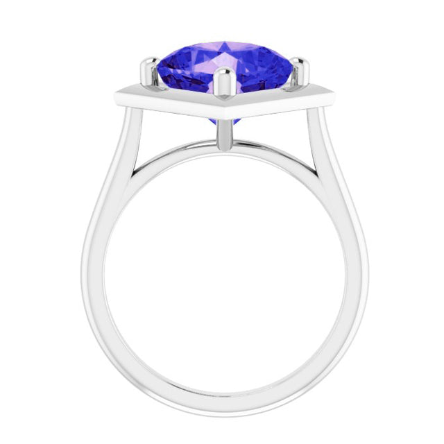 GIA certified sapphire silver ring