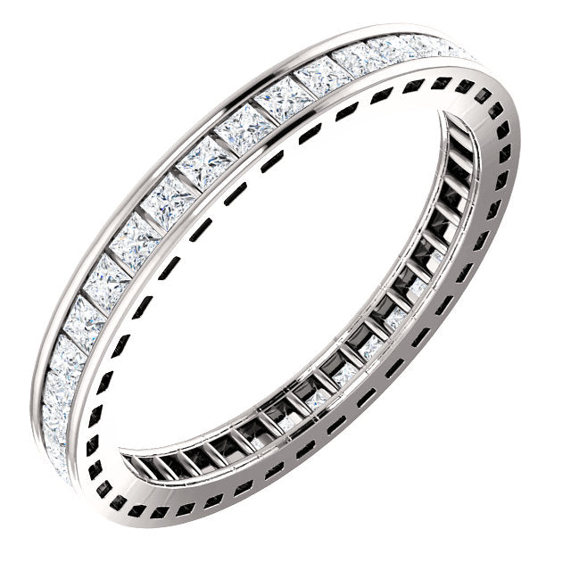 square diamond eternity ring