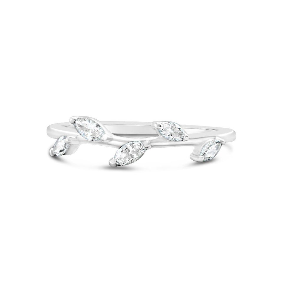 Marquise Diamonds Leaf Band