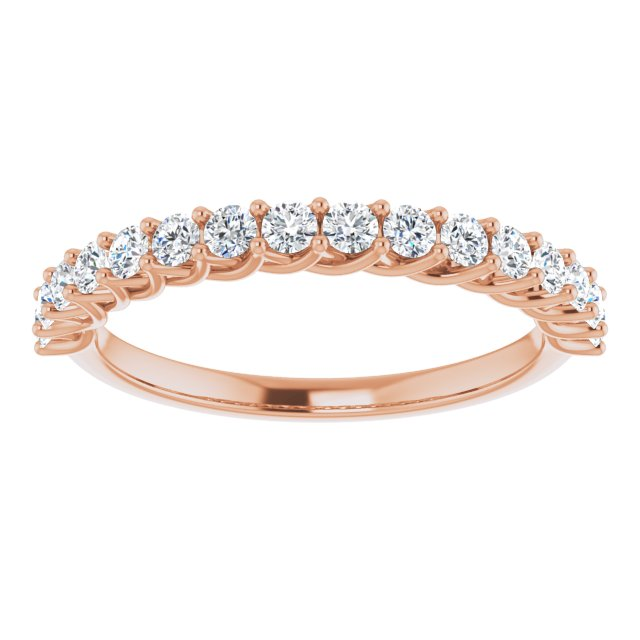 rose gold diamond anniversary ring