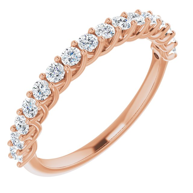 diamond anniversary ring rose