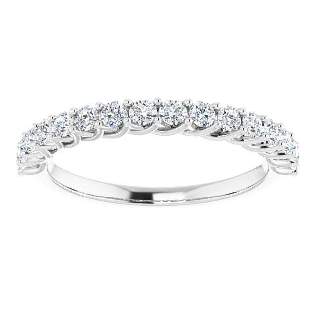 white diamond anniversary ring