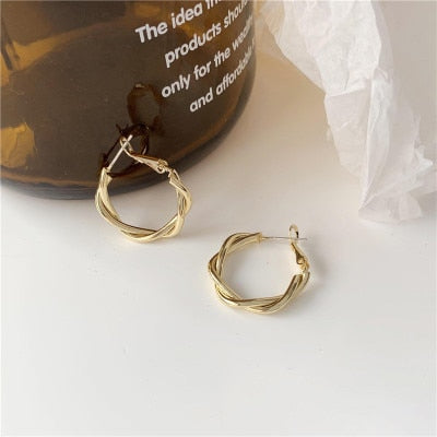 Double DD New Gold metal Multi-layer Circle
