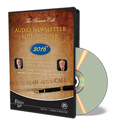 Audio Newsletter 2016 - CD - Audio from The Berean Call Store