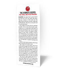 4 Minute Gospel Tract - Tract from The Berean Call Store