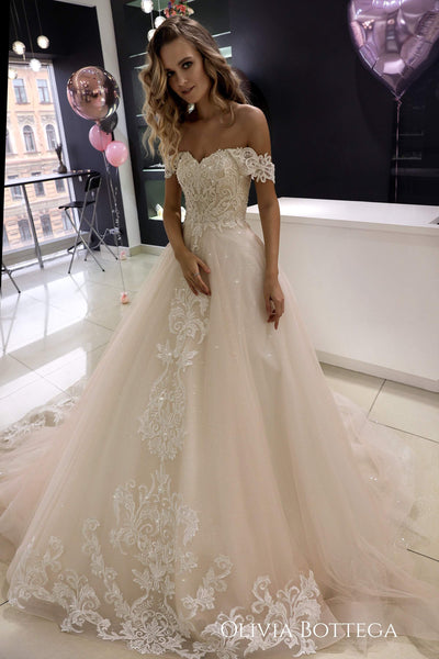Ivia by Olivia Bottega Tulle Wedding Dress | A-Line Wedding Dress | A-Line Dress | Tulle Wedding Dress | Tulle Gown - oliviabottega