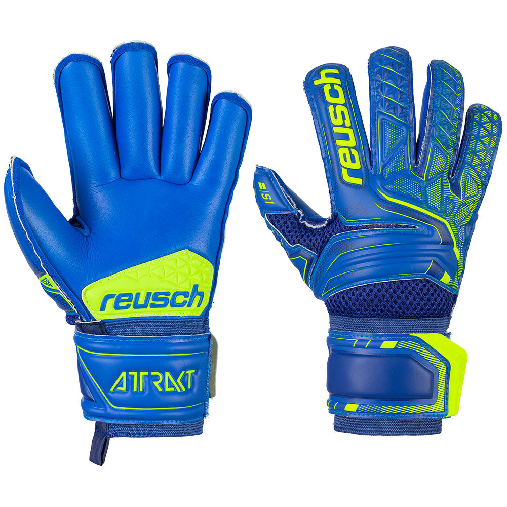 REUSCH JNR ATTRAKT ROLL FINGER GOALKEEPER GLOVES