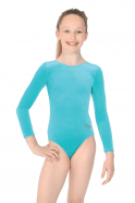 THE ZONE SMOOTH LEOTARD LONG SLEEVE - JADE