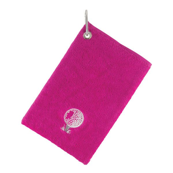 SURPRIZESHOP GOLF EMBROIDED BAG/TOWEL PINK