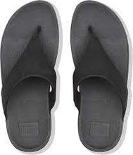 Load image into Gallery viewer, FITFLOP LULU SHIMMER TOE  BLACK