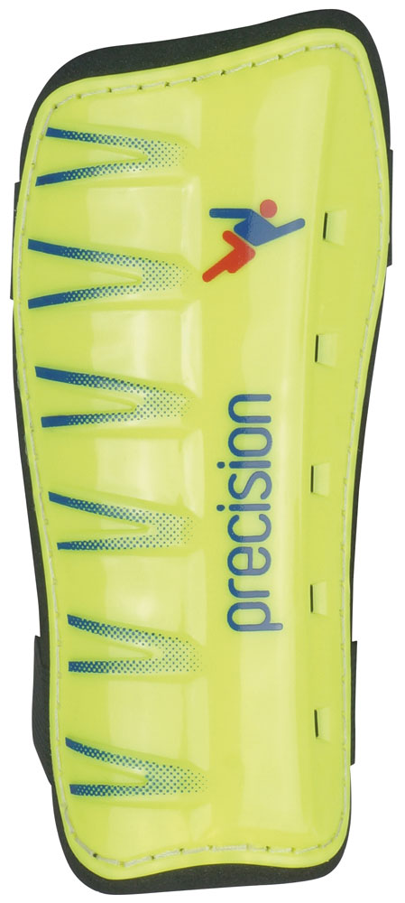 PRECISION LEAGUE SLIP-IN SHIN PADS LIME/BLUE
