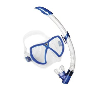 AQUALUNG VISION FLEX MASK/SNORKEL SET - BLUE