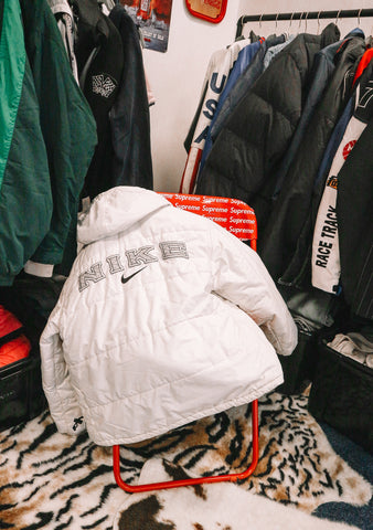 RARE Nike Spellout Puffer M-Coats & Jackets-Thrift On Store