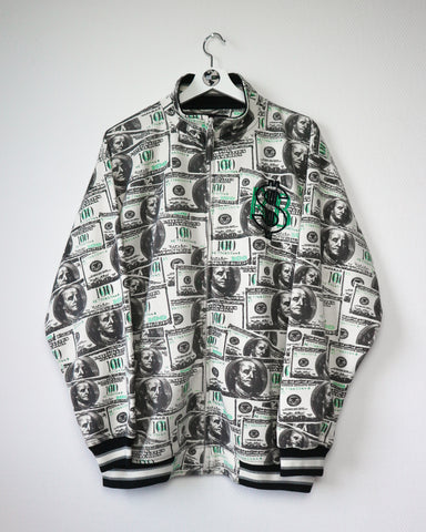 Dollar Zip Up L-Sweater-Thrift On Store