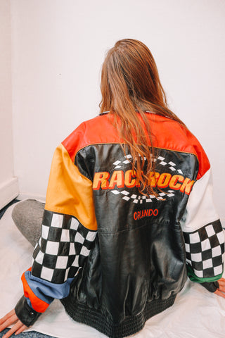 Race Rock Orlando Leather Jacket L-Coats & Jackets-Thrift On Store
