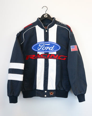 JH Design Ford Racing Jacket M-Coats & Jackets-Thrift On Store