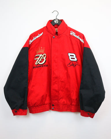 Budweiser Racing Jacket L-Coats & Jackets-Thrift On Store