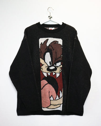 Looney Tunes Taz Jumper XL-Sweater-Thrift On Store