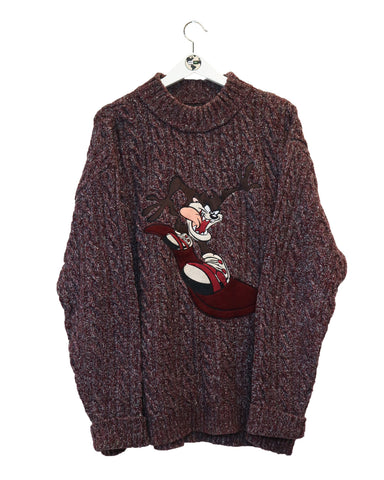 Looney Tunes Jumper Tazmanian XL-Sweater-Thrift On Store
