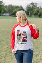 Load image into Gallery viewer, Love Christmas Leopard Tee