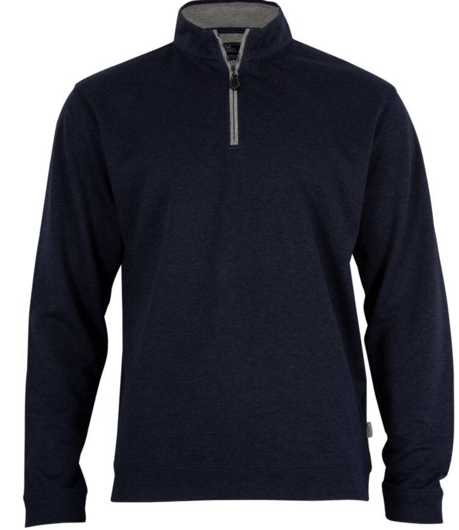 Coast Navy Heather Quarter Zip