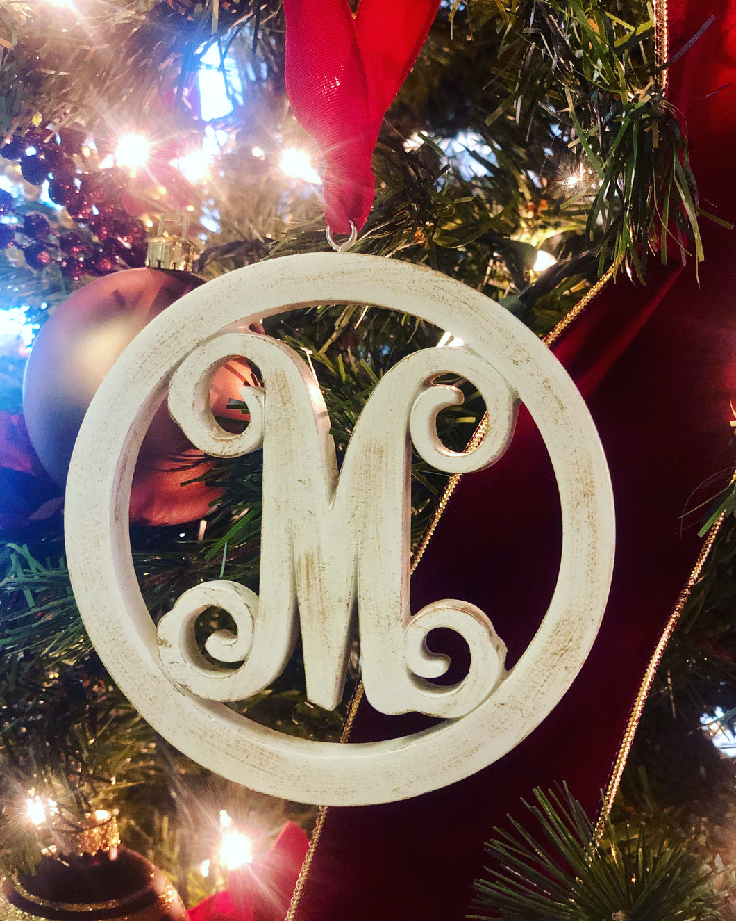 Wooden Cutout Initial Ornaments