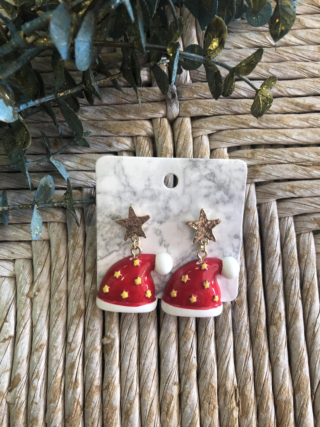 Star Santa hat Earrings