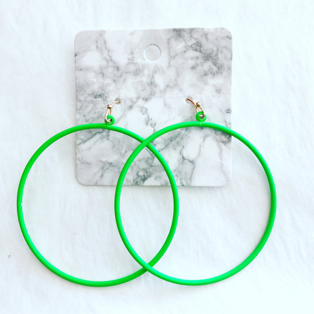 Guessing Green Neon Hoops