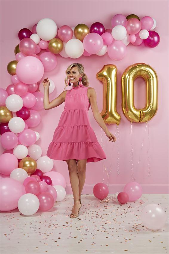 Mudpie Pink Nat Bowtie Dress
