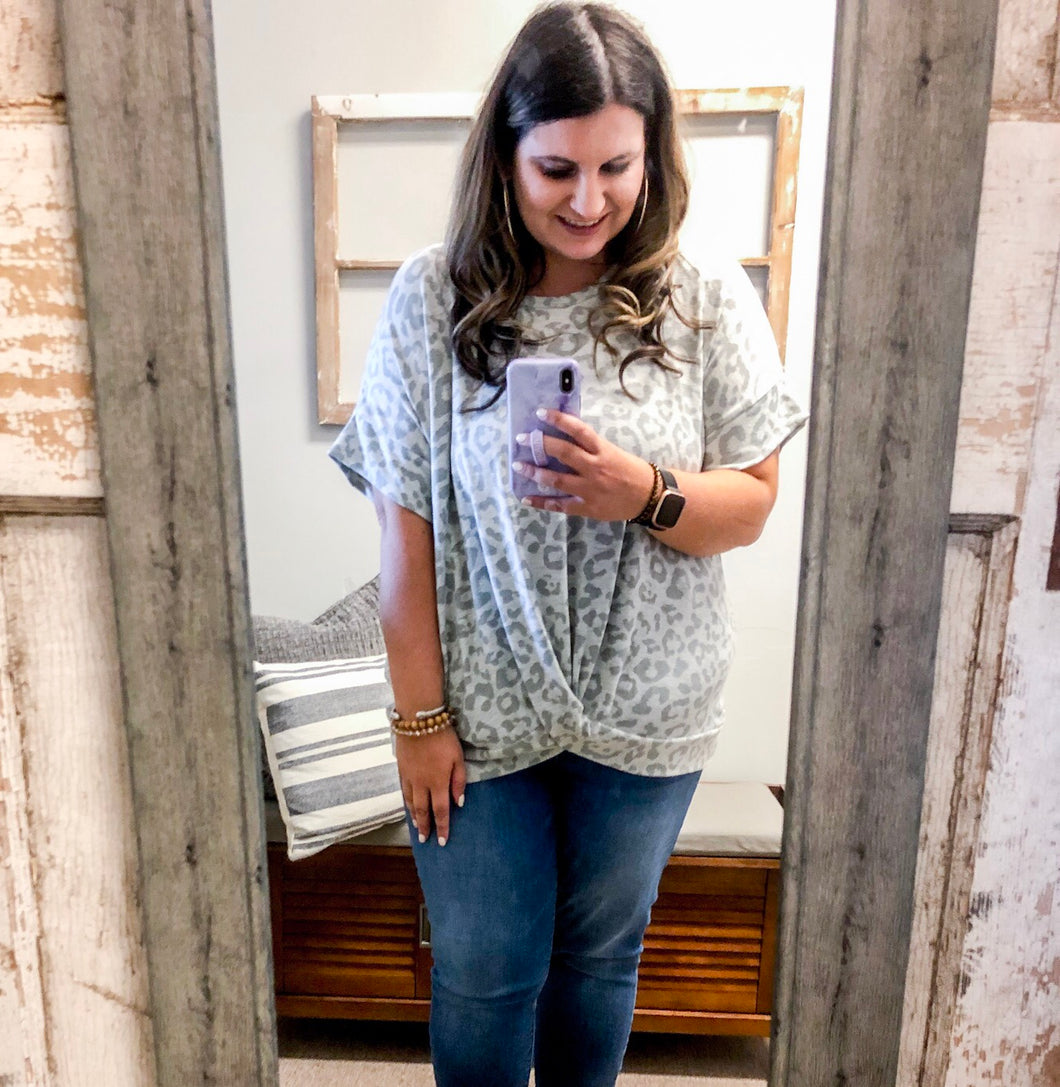 Salon Stuck On Georgia Time Leopard Top