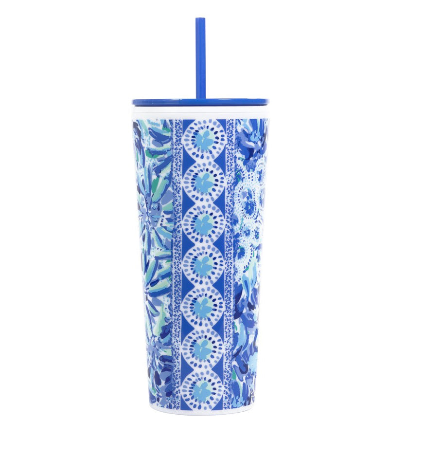 Lilly High Manetenance Straw Tumbler